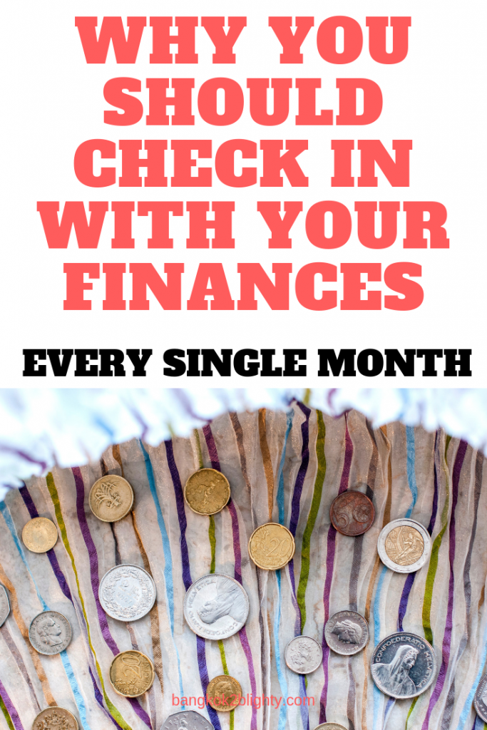 conduct monthly financial check-in