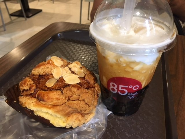 Milk tea and pastry in Taipei